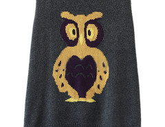 Gray Owl Pattern Hi-lo Sleeveless Vest Sweater Choies.com online fashion store United Kingdom Europe