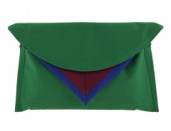 Green Clutch with Triangle detail Carnet de Mode online fashion store Europe France