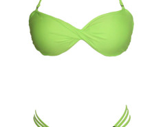 Green Halter Push Up Twist Bikini Top And Strappy Bottom Choies.com online fashion store United Kingdom Europe
