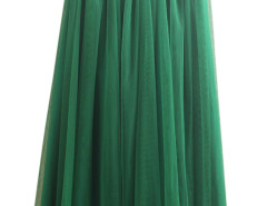 Green High Waist Pleat Mesh Tulle Midi Skirt Choies.com online fashion store United Kingdom Europe