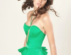 Green Peplum Mina Swimsuit Carnet de Mode online fashion store Europe France