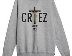 Grey printed sweat-shirt Godard - Criez pour moi Carnet de Mode online fashion store Europe France