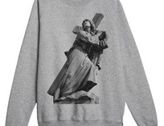 Grey printed sweat-shirt Godard - The Way Of Cross Carnet de Mode online fashion store Europe France