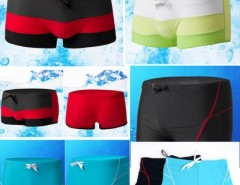 HOT Men swimming Trunks Tether Boxers Beach shorts Swimwear with Pocket Swimsuit Cndirect online fashion store China