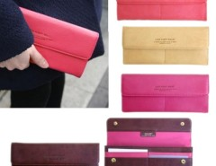 HOT Women Long Purse Wallet Checkbook Wallet Stylish Button Wallet 4 Colors Cndirect online fashion store China