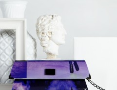 Handheld Clutch - Purple - 80's Carnet de Mode online fashion store Europe France
