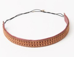 Headband - Apollonide - copper & burgundy Carnet de Mode online fashion store Europe France