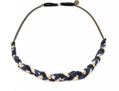 Headband - iris - navy blue & golden Carnet de Mode online fashion store Europe France