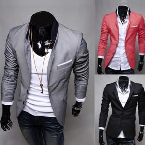 Hot Men's Casual Dress Slim Fit Stylish Suit Blazer Coats Jackets 3color 4sizes Cndirect online fashion store China