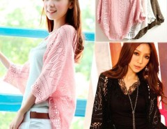 Hot Women's Batwing Deer Pattern Sweater Knitwear New Hollow shawl Cardigan WT88 Cndirect online fashion store China