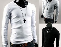 Hotsale!! Stylish Men's High Quality Cotton Long Sleeve O-neck Pullover Hoodie T-shirt Cndirect online fashion store China