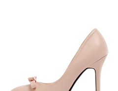 Jollychic Bow Solid Color Stiletto Heel Pumps Jollychic.com online fashion store China