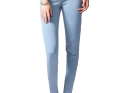 Jollychic Brief High Waist Solid Color Skinny Jeans Jollychic.com online fashion store China