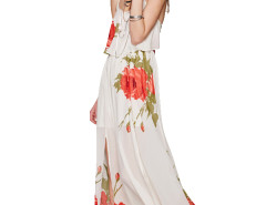 Jollychic Floral Slip Long Beach Dress Jollychic.com online fashion store China