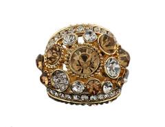 Jollychic Luxury Rhinestones Alloy Charm Ring Jollychic.com online fashion store China