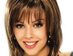Jollychic Medium Blend Oblique Bangs Women Hair Wigs Jollychic.com online fashion store China