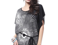 Jollychic Mid Waist Printed Dress For Women With Belt Jollychic.com online fashion store China
