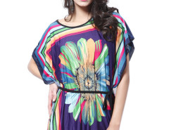 Jollychic Over Size Printed Dress For Women With Belt Jollychic.com online fashion store China