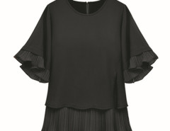 Jollychic Plus Size Solid Chiffon Blouse Women Jollychic.com online fashion store China