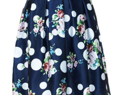 Jollychic Polka Dot Floral High Waist Skirt Jollychic.com online fashion store China