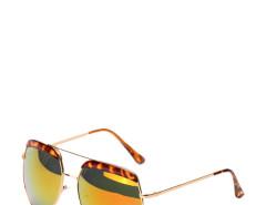 Jollychic Retro Polygon Frame Reflective Fashion Sunglasses Jollychic.com online fashion store China