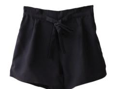 Jollychic Solid High Waist Self-Tie Wide Leg Shorts Jollychic.com online fashion store China