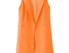 Jollychic Solid Sleeveless Fashion Womens Blazer Jollychic.com online fashion store China