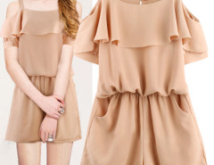 Jollychic Solid Slip Ruffled Hem Women Casual Jumpsuit Jollychic.com online fashion store China