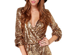 Jollychic Sparkling V Neck Sequins Long Sleeve Jumpsuits For Women Jollychic.com online fashion store China