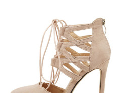 Jollychic Strappy Solid Color Stiletto Pumps Jollychic.com online fashion store China