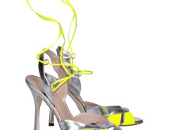 Josephine Laced Cut Out Metallic Leather Heeled Sandals Carnet de Mode online fashion store Europe France