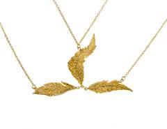 Priestess Feather Headpiece. Yellow Gold. MrKate.com online fashion store USA