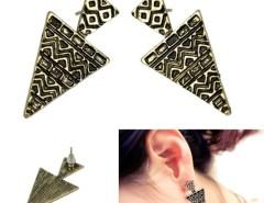 Korea Fashion Cool Punk Bronze Geometric Women's Girls Party Ear Studs Earrings Cndirect online fashion store China