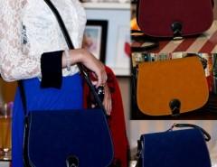 Korea Fashion Women's Girl Splicing Magnetic Clasp Single Shoulder Bag Cross Body Handbag Cndirect online fashion store China