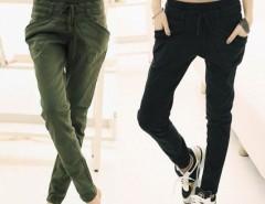 Korean Fashion Womens Slim Denim Pencil Harem Casual Pants Trousers Sweatpants Cndirect online fashion store China