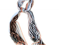 Large Scarf - Rayons - Blue Carnet de Mode online fashion store Europe France