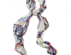 Large scarf - Olympus - Blue Carnet de Mode online fashion store Europe France