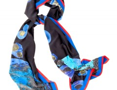 Large scarf - Orion - Blue Carnet de Mode online fashion store Europe France