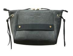 Leather clutch - Papillon Bouche Cousue - gray Carnet de Mode online fashion store Europe France