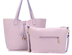 Light Purple Ring Drop Tote Bag Choies.com online fashion store United Kingdom Europe