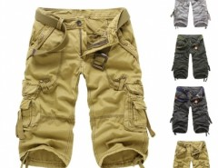 Men Casual Cargo Camo Cotton Overall Shorts Sports Pants Cndirect online fashion store China