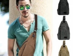 Men Fashion Retro Canvas Satchel Hiking Cycling Shoulder Bag Cross Body Chest Bag Size Small Cndirect online fashion store China
