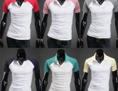 Men Short Sleeve Stylish Candy Color Polo Shirts 8 Colors Cndirect online fashion store China