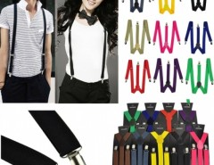 Men Women Clip-on Suspenders Elastic Y-Shape Adjustable Braces Solids Cndirect online fashion store China