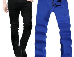 Men's Candy Color Slim Stretchy Pencil Pants Skinny Jeans Trousers Cndirect online fashion store China