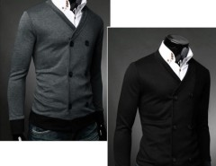 Men's Double-Breasted Cardigan Jumper Sweaters Tops Cndirect online fashion store China