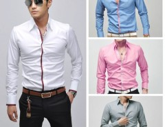 Men's Fashion Stylish Casual shirts Slim Fit Long Sleeve Shirt Tops Cndirect online fashion store China