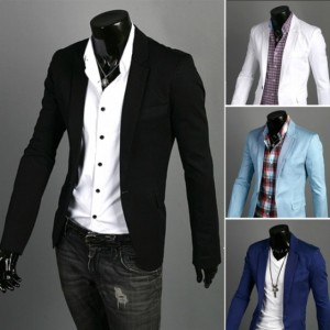Men's Fit Zip Casual One Button Suit Blazer Coat Jackets Cndirect online fashion store China