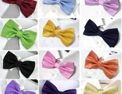 Men's Grid Polyester Neckwear Adjustable Wedding Bow Tie Cndirect online fashion store China