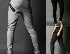 Men's Harem Trousers Skinny Pants Straight Fit Cndirect online fashion store China